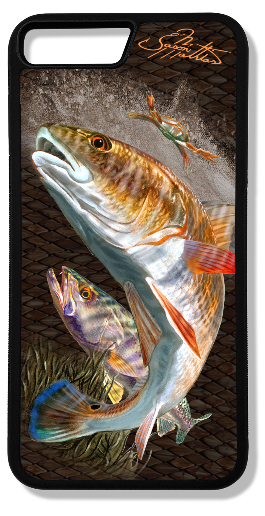 iphone-8-plus-case-redfish-trout-jason-mathias-art.png
