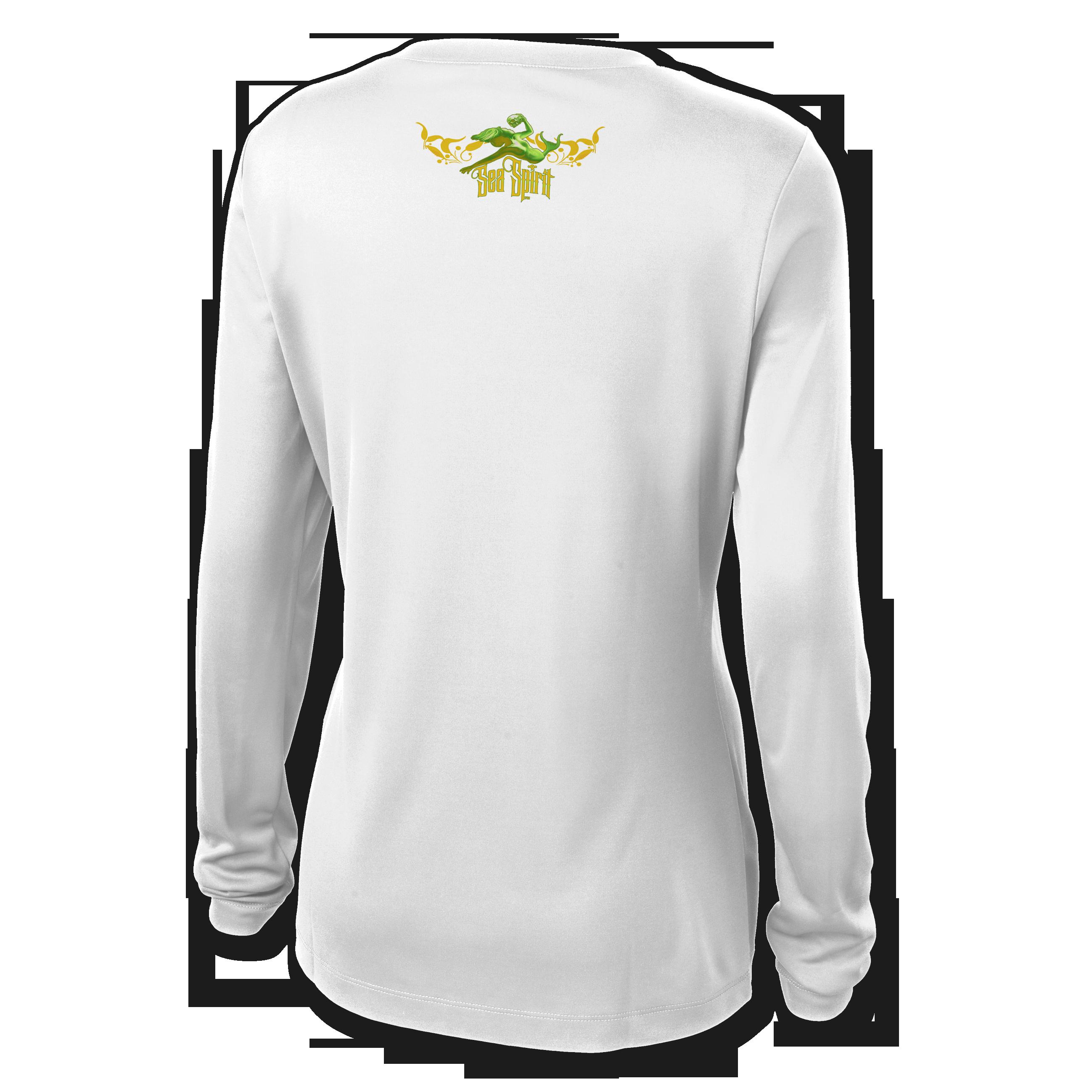jason-mathias-sea-spirit-womens-v-neck-mahi-dorado-dolphin-shirt-white-back.png